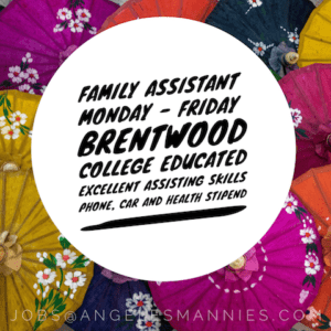 Full Time Family Assistant