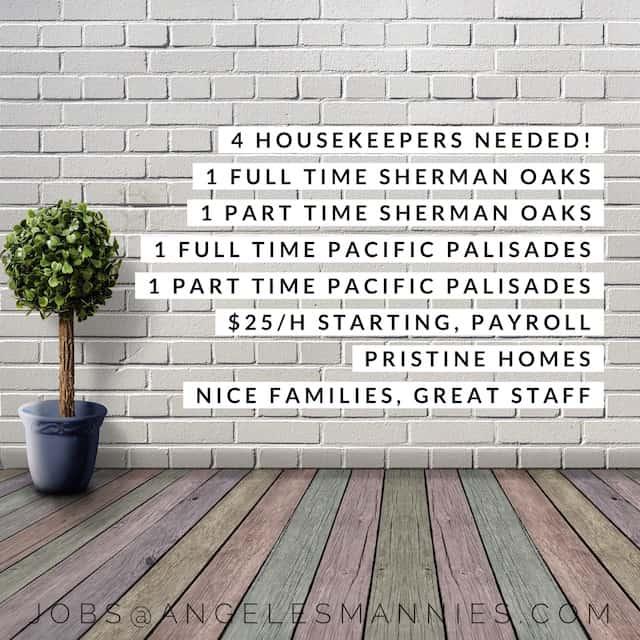 Housekeepers Sherman Oak Pacific Palisades