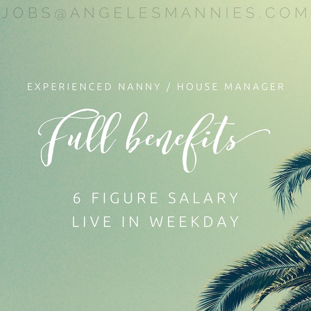 Experienced Nanny House Manager