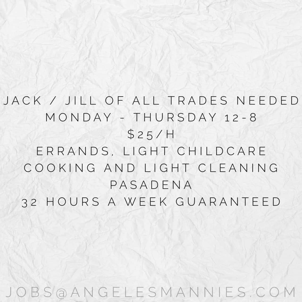 Jill of all trades