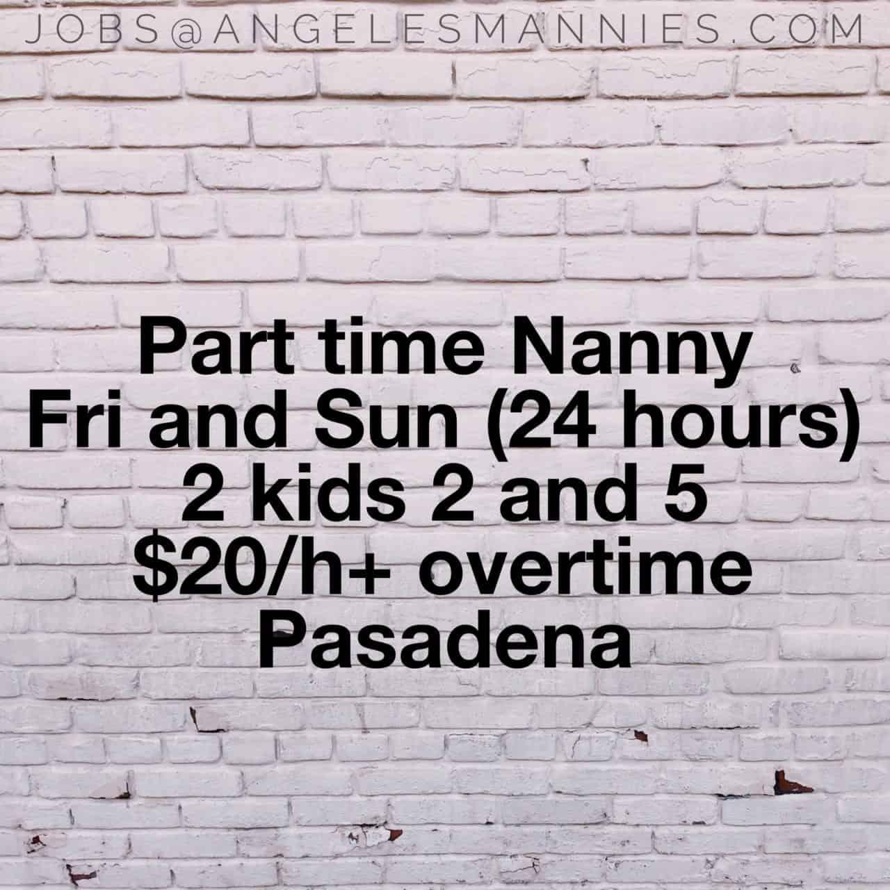 Part Time Nanny