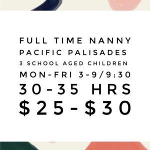 Pacific Palisades Nanny