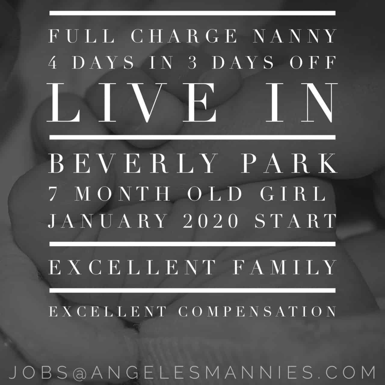 Live-in Infant Nanny