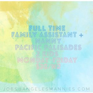 Full Time   Pacific Palisades